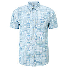 Buy Carhartt Gary Apache Print Short Sleeve Shirt, Columbia/White Online at johnlewis.com