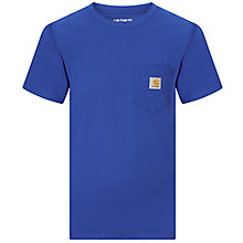 Buy Carhartt Short Sleeve Pocket T-Shirt, Blue Online at johnlewis.com