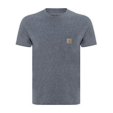 Buy Carhartt Short Sleeved Pocket T-Shirt, Blue Noise Heather Online at johnlewis.com