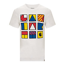 Buy Carhartt Flags Cotton T-Shirt, White Online at johnlewis.com