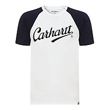 Buy Carhartt League Crew Neck T-Shirt, White/Duke Blue Online at johnlewis.com