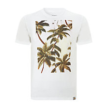 Buy Carhartt Palm Tree Printed T-Shirt, White Online at johnlewis.com