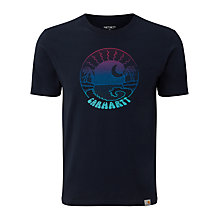 Buy Carhartt Sunset Print T-Shirt, Duke Blue Online at johnlewis.com