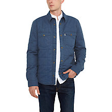 Buy Levi's Barstow Quilted Jacket, Enzyme Blue Online at johnlewis.com