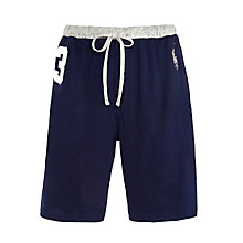 Buy Polo Ralph Lauren No.3 Jersey Lounge Shorts, Navy/Grey Online at johnlewis.com