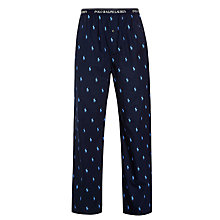 Buy Polo Ralph Lauren Pony Print Lounge Pants, Navy Online at johnlewis.com