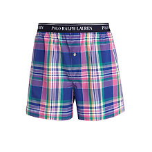 Buy Polo Ralph Lauren Check Boxer Shorts, Pink/Blue Online at johnlewis.com