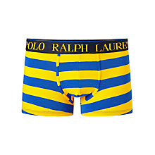 Buy Polo Ralph Lauren Stripe Trunks, Yellow/Blue Online at johnlewis.com