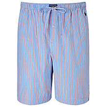 Buy Polo Ralph Lauren Woven Stripe Lounge Shorts, Blue/Pink Online at johnlewis.com