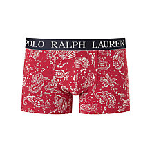 Buy Polo Ralph Lauren Paisley Print Trunks, Red Online at johnlewis.com