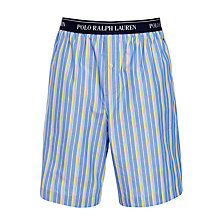 Buy Polo Ralph Lauren Woven Stripe Lounge Shorts, Blue/Yellow Online at johnlewis.com