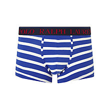 Buy Polo Ralph Lauren Cotton Stretch Striped Trunks, Blue/White Online at johnlewis.com