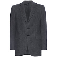 Buy Jaeger Wool Flannel Modern Suit Jacket, Charcoal Online at johnlewis.com