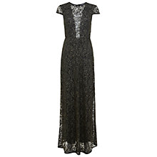 Buy Miss Selfridge Lace Maxi Dress, Black Online at johnlewis.com