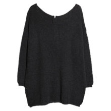 Buy Violeta by Mango Alpaca Blend Zip Detail Sweater, Dark Grey Online at johnlewis.com