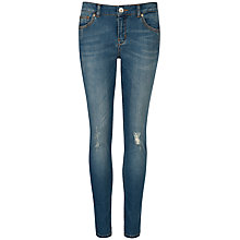 Buy Ted Baker Skinny Abrasion Jeans, Light Wash Online at johnlewis.com