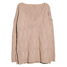 Buy Violeta by Mango Fancy Knit Jumper, Light Beige Online at johnlewis.com