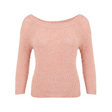 Buy Miss Selfridge Moss Stitch Jumper, Pink Online at johnlewis.com