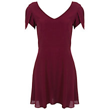 Buy Miss Selfridge Petite Crepe Dress, Burgundy Online at johnlewis.com