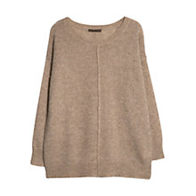 Buy Violeta by Mango Mohair Blend Metallic Thread Jumper, Light Beige Online at johnlewis.com