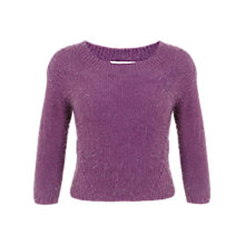Buy Miss Selfridge Moss Stitch Eyelash Jumper, Purple Online at johnlewis.com