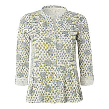 Buy White Stuff Pansy Long Sleeve Meadow Print Shirt, Green Pansy Online at johnlewis.com