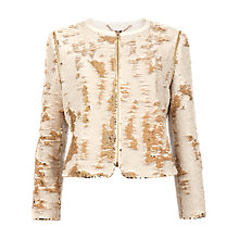 Buy Ted Baker Sequin Jacket, Gold Online at johnlewis.com