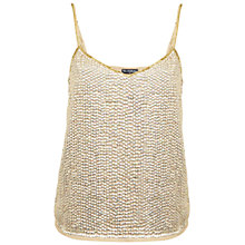 Buy Miss Selfridge Sequin Cami, Gold Online at johnlewis.com