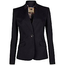 Buy Ted Baker Diamond Jacquard Jacket, Black Online at johnlewis.com