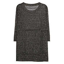 Buy Violeta by Mango Metal Thread Jumper, Black Online at johnlewis.com