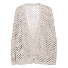 Buy Violeta by Mango Sequin Alpaca Blend Cardigan, Light Beige Online at johnlewis.com