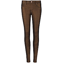 Buy Ted Baker Metallic Skinny Jeans, Rose Gold Online at johnlewis.com