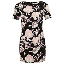 Buy Miss Selfridge Petite Printed Tee Dress, Black Online at johnlewis.com