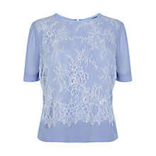 Buy Coast Merida Lace T-Shirt, Blue Online at johnlewis.com