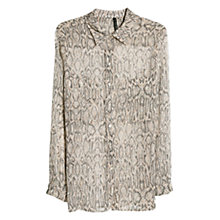 Buy Mango Snake Print Shirt, Light Beige Online at johnlewis.com