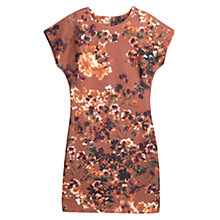 Buy Mango Digital Floral Print Dress, Medium Brown Online at johnlewis.com