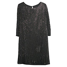 Buy Mango Sequin Beaded Dress, Black Online at johnlewis.com