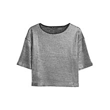 Buy Mango Metallic Cropped T-Shirt Online at johnlewis.com