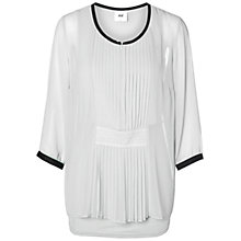 Buy Mamalicious Amanda Lia Long Sleeve Woven Nursing Top, Snow White Online at johnlewis.com
