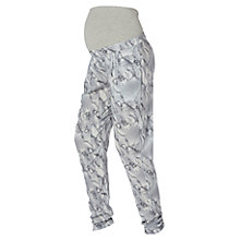 Buy Mamalicious Marble Woven Loose Maternity Trousers, Grey Marble Online at johnlewis.com