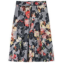 Buy Toast Floral Print Skirt, Black/Grey/Ochre/Orange Online at johnlewis.com