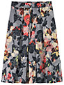 Toast Floral Print Skirt, Black/Grey/Ochre/Orange