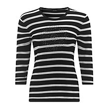 Buy Gerry Weber Sparkle Front Jumper, Navy/White Online at johnlewis.com