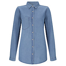 Buy Selected Femme Denim Shirt, Mid Blue Denim Online at johnlewis.com