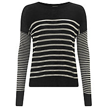Buy Selected Femme Stephy Knit Pullover, Black Online at johnlewis.com