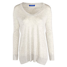 Buy Winser London Silk Cashmere Blend Jumper, Grey Marl Online at johnlewis.com