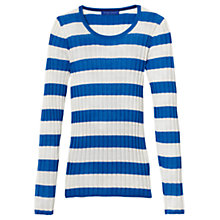 Buy Winser London Stripe Merino Wool Jumper, Ivory/Blue Online at johnlewis.com