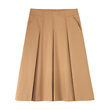 Buy Toast Ryoko Cotton Skirt, Biscuit Online at johnlewis.com