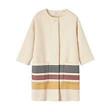 Buy Toast Miyoko Stripe Hem Coat, Cream Online at johnlewis.com