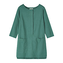 Buy Toast Chambray Tunic Top, Teal Online at johnlewis.com